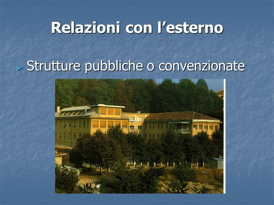 Relazioni con lesterno Strutture pubbliche o convenzionate Strutture pubbliche o convenzionate