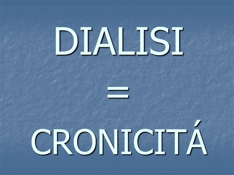 DIALISI = CRONICITÁ