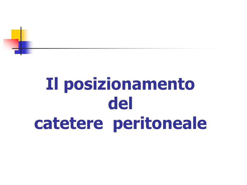 Il posizionamento del catetere peritoneale