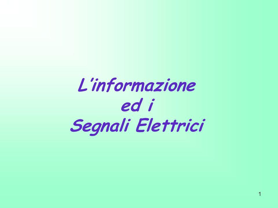 2 Definizione di Informazione: Cosa si intende per informazione .