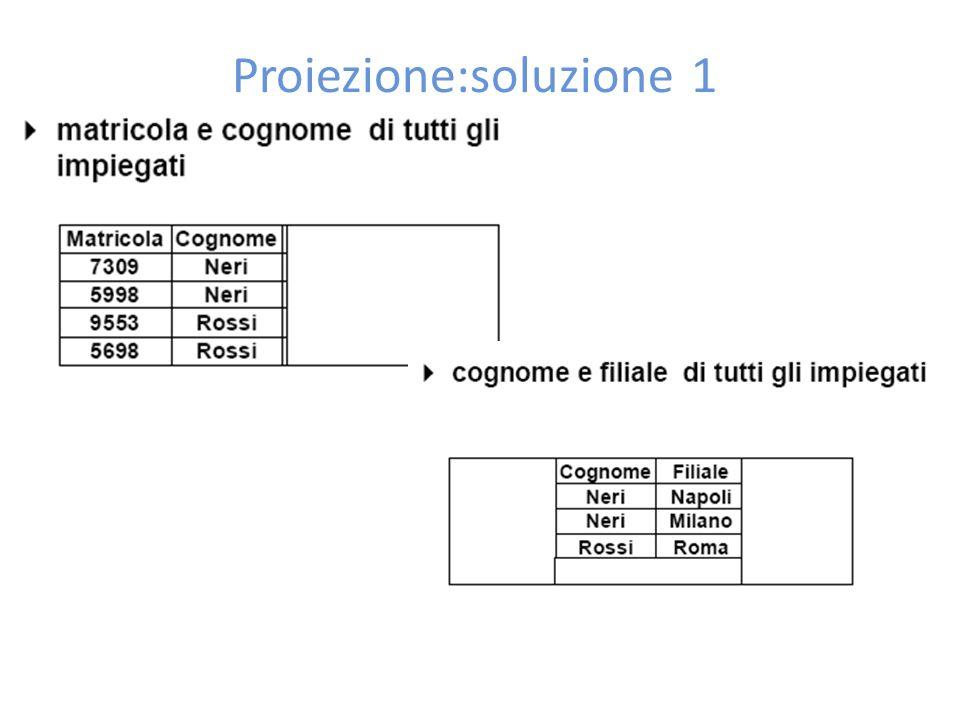 Proiezione:soluzione 1