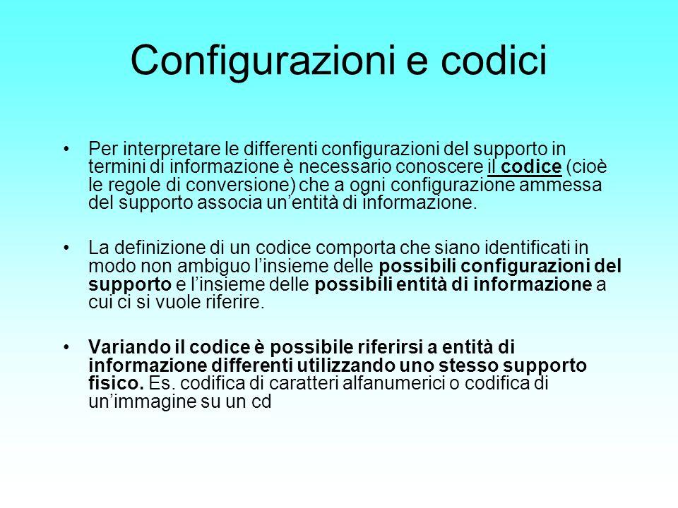 La rappresentazione interna delle informazioni Codifica dell Informazione L architettura di un calcolatore impone delle regole di conversione tra le rappresentazioni umane delle informazioni e quella binaria.