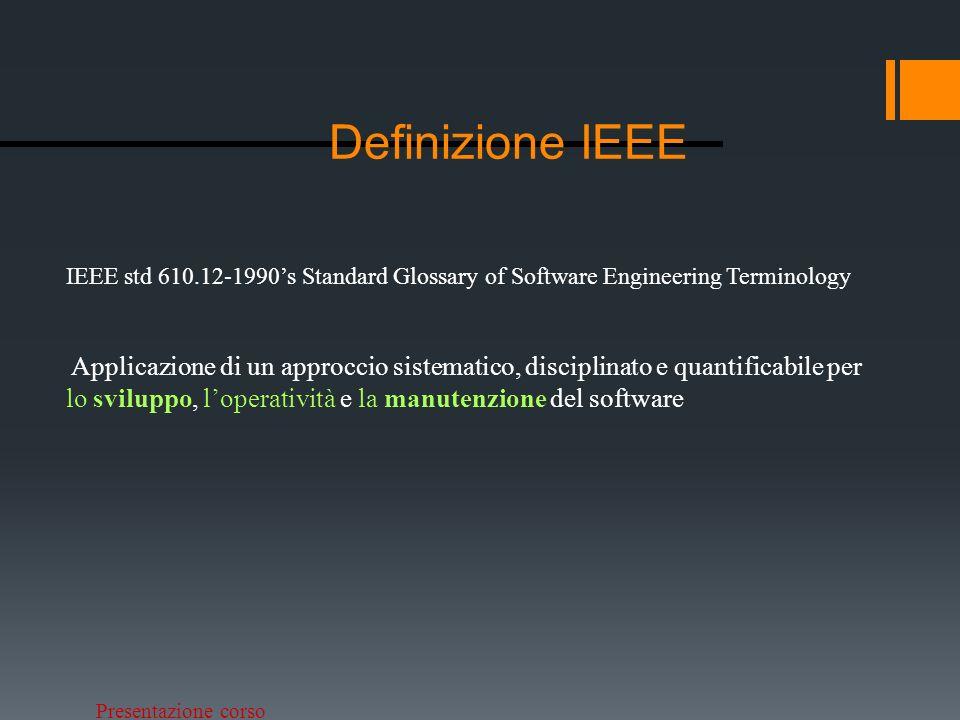 Presentazione corso Cambiamenti in ING.SW Cambiamenti in Ingegneria del Software Tecno.