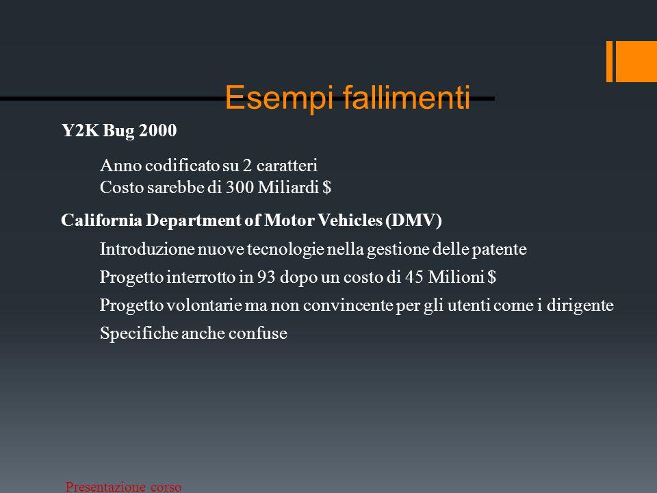 Presentazione corso Statistica progetti Standish Group CHAOS report. - 2009