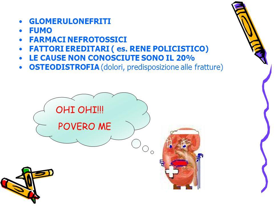 GLOMERULONEFRITI FUMO FARMACI NEFROTOSSICI FATTORI EREDITARI ( es.