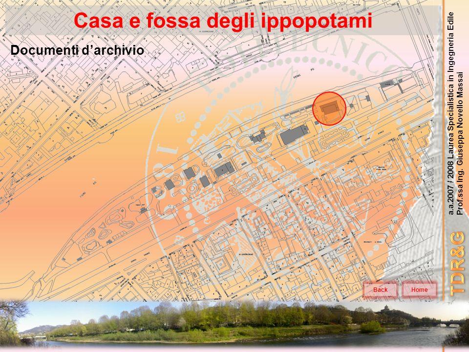 a.a.2007 / 2008 Laurea Specialistica in Ingegneria Edile Prof.ssa Ing. Giuseppa Novello Massai Casa e fossa degli ippopotami Home Documenti darchivio