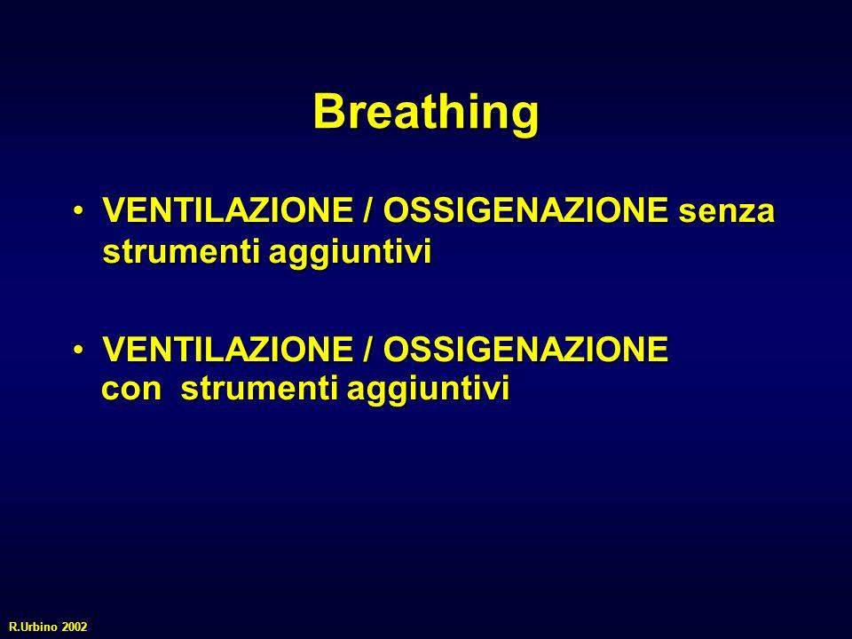 Breathing VENTILAZIONE / OSSIGENAZIONE senza strumenti aggiuntiviVENTILAZIONE / OSSIGENAZIONE senza strumenti aggiuntivi VENTILAZIONE / OSSIGENAZIONEV