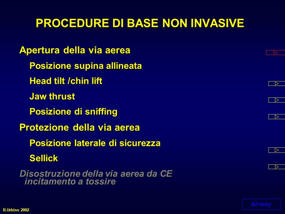 Breathing VENTILAZIONE / OSSIGENAZIONE senza strumenti aggiuntiviVENTILAZIONE / OSSIGENAZIONE senza strumenti aggiuntivi VENTILAZIONE / OSSIGENAZIONEVENTILAZIONE / OSSIGENAZIONE con strumenti aggiuntivi con strumenti aggiuntivi R.Urbino 2002
