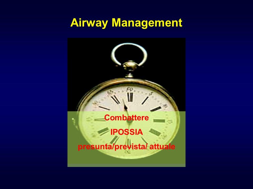 Airway Management Combattere IPOSSIA presunta/prevista/ attuale