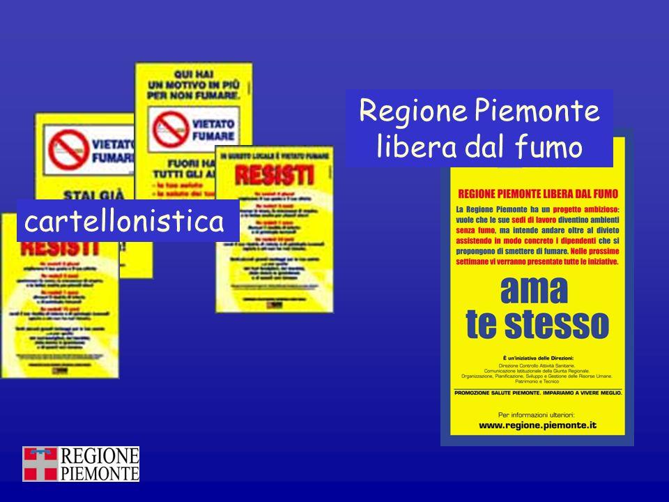 cartellonistica Regione Piemonte libera dal fumo