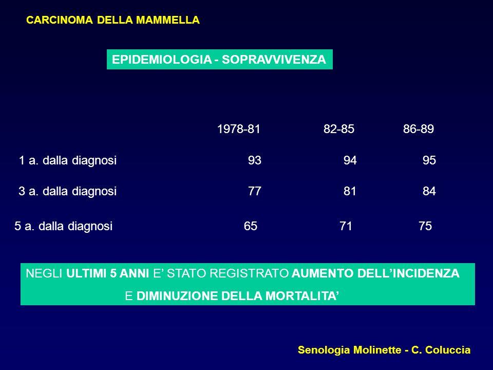CHIRURGIA CONSERVATIVA: Resezione limitata Senologia Molinette - C. Coluccia