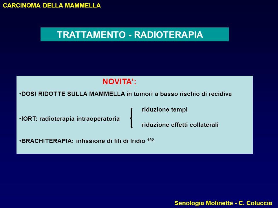 CARCINOMA DELLA MAMMELLA Senologia Molinette - C.