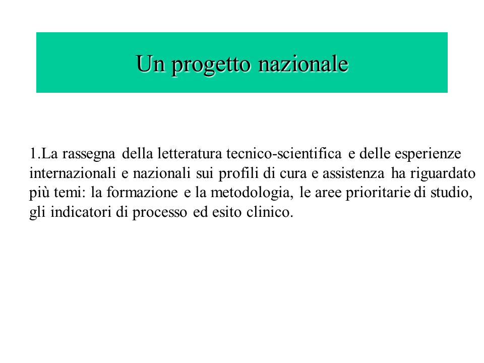 Un progetto nazionale 1.La rassegna della letteratura tecnico-scientifica e delle esperienze internazionali e nazionali sui profili di cura e assisten