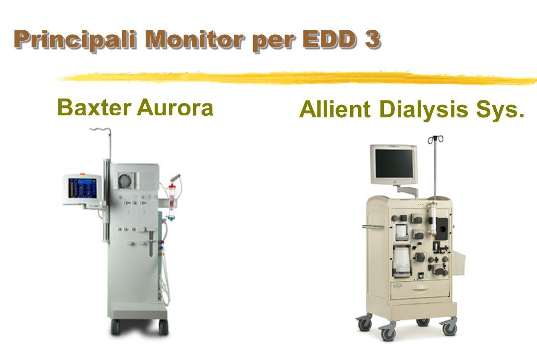 Principali Monitor per EDD 3 Baxter Aurora Allient Dialysis Sys.