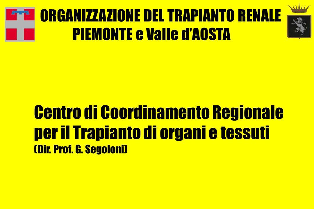 CENTRO TRAPIANTO RENALE IMMUNOLOGIA DEI TRAPIANTI REFERENTI REGIONALI