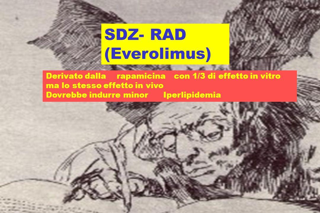 RAPAMICINA (Sirolimus) INTERFERENZE FARMACOLOGICHE CONOSCIUTE AUC Ketoconazolo Diltiazem Neoral FK506? Barbiturici Rifampicina