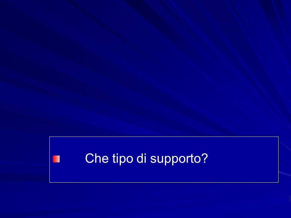 Che tipo di supporto?