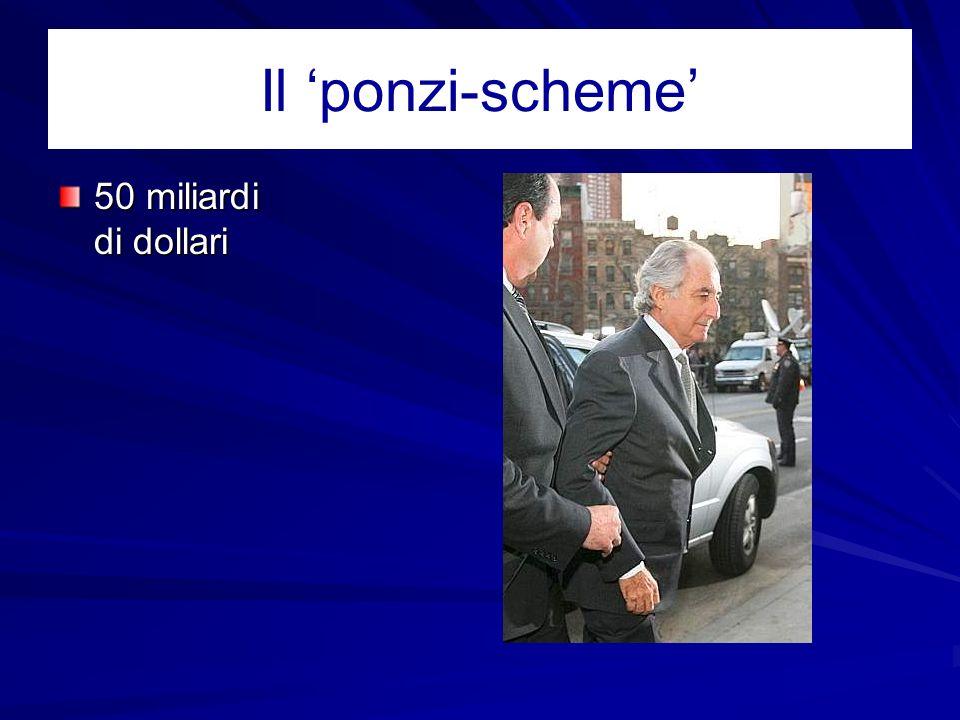 Il ponzi-scheme 50 miliardi di dollari