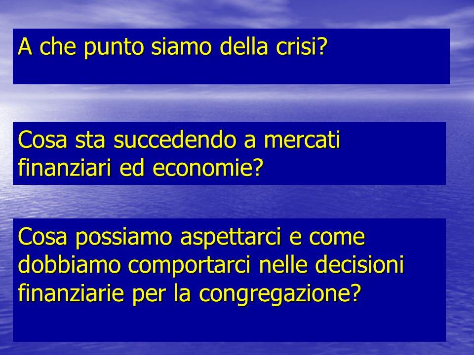 A che punto siamo della crisi.Cosa sta succedendo a mercati finanziari ed economie.