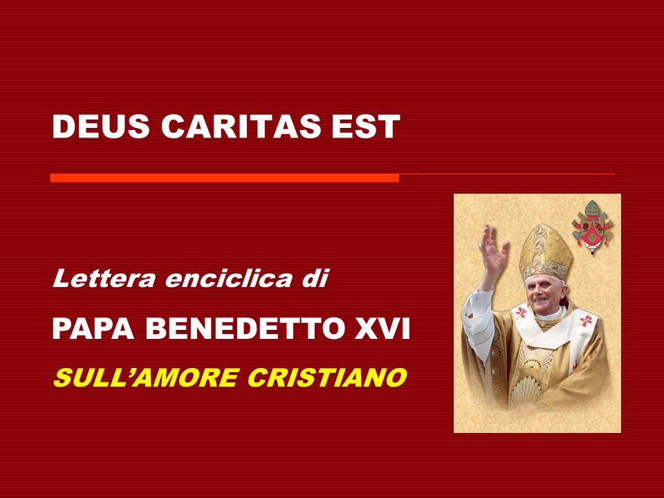 In questa sezione, Papa Benedetto riflette sui concetti di eros, agape e logos, e la loro relazione con linsegnamento di Gesù.