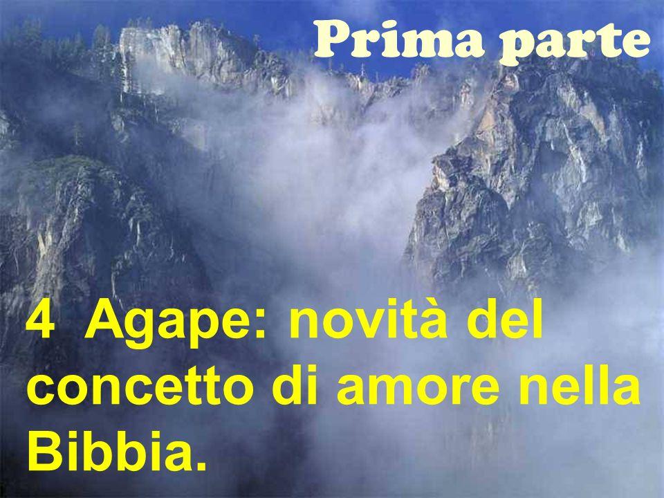 19 Prima parte 4 Agape: novità del concetto di amore nella Bibbia.