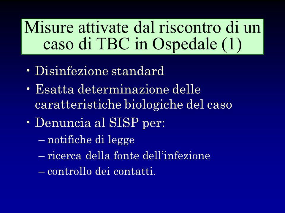 Fattori favorenti linsorgenza di epidemie nosocomiali di TBC originate da pazienti con infezione da HIV Ritardo di diagnosi (quadro clinico atipico, p