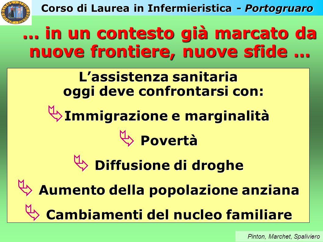Corso di Laurea in Infermieristica - Portogruaro paliviero Pinton, Marchet, Spaliviero Lassistenza sanitaria oggi deve confrontarsi con: Immigrazione