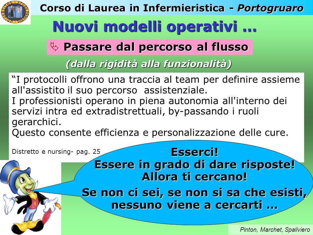 Corso di Laurea in Infermieristica - Portogruaro paliviero Pinton, Marchet, Spaliviero Passare dal percorso al flusso Passare dal percorso al flusso I