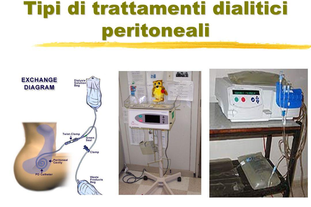 Tipi di trattamenti dialitici peritoneali