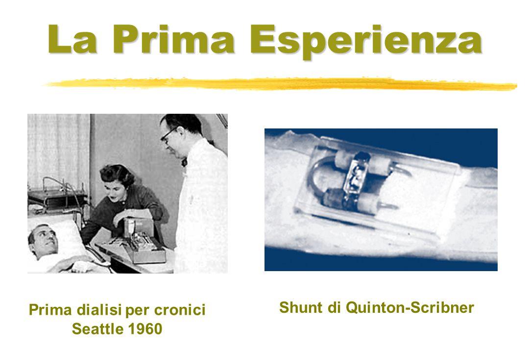La Prima Esperienza Prima dialisi per cronici Seattle 1960 Shunt di Quinton-Scribner