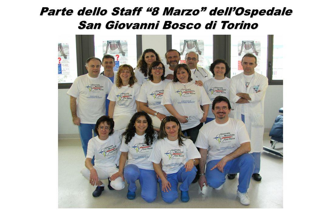 Parte dello Staff 8 Marzo dellOspedale San Giovanni Bosco di Torino