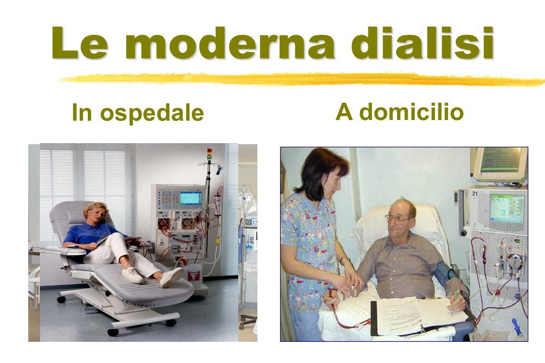Le moderna dialisi In ospedale A domicilio