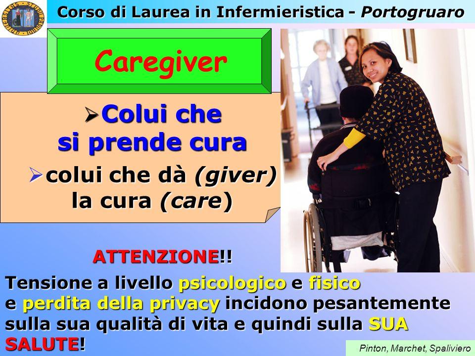 Corso di Laurea in Infermieristica - Portogruaro paliviero Pinton, Marchet, Spaliviero Caregiver ATTENZIONE!! ATTENZIONE!! Tensione a livello psicolog