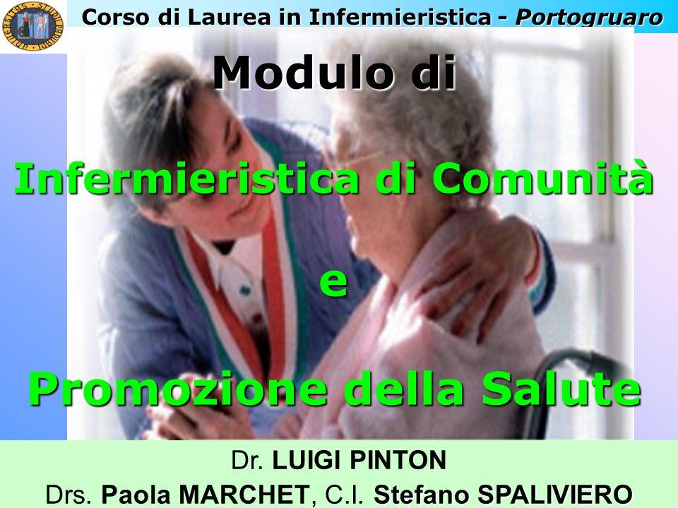 Corso di Laurea in Infermieristica - Portogruaro Dr. LUIGI PINTON Stefano SPALIVIERO Drs. Paola MARCHET, C.I. Stefano SPALIVIERO Modulo di Infermieris