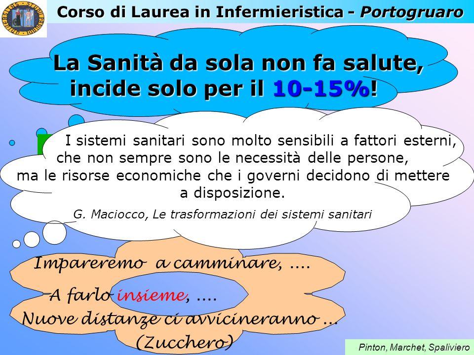 Corso di Laurea in Infermieristica - Portogruaro paliviero Pinton, Marchet, Spaliviero Impareremo a camminare,.... A farlo insieme,.... Nuove distanze