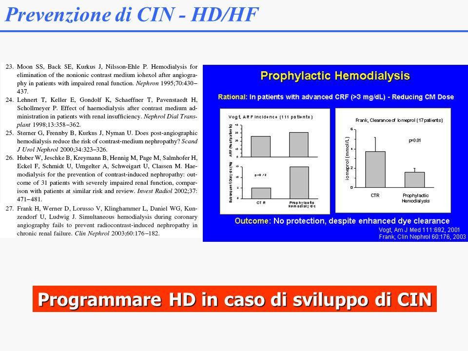 Programmare HD in caso di sviluppo di CIN