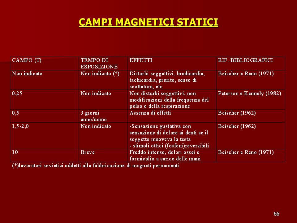 66 CAMPI MAGNETICI STATICI