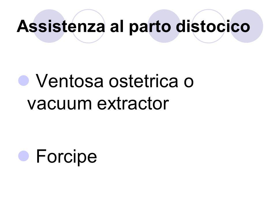 Assistenza al parto distocico Ventosa ostetrica o vacuum extractor Forcipe