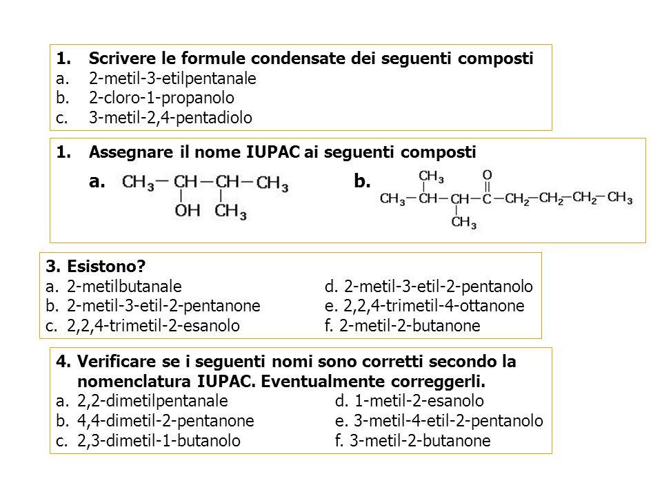 Alcoli Aldeidi Chetoni – soluzioni(1) 1.