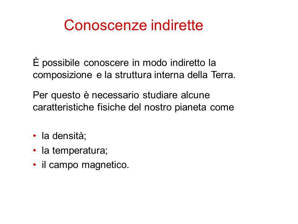 È possibile conoscere in modo indiretto la composizione e la struttura interna della Terra. 3 Per questo è necessario studiare alcune caratteristiche