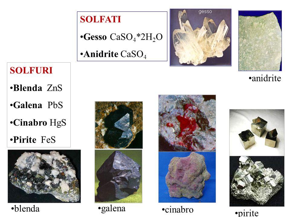 CARBONATI Calcite / Aragonite CaCO 3 Dolomite CaMg(CO 3 ) 2 Siderite FeCO 3 Magnesite MgCO 3 Malachite Cu 2 (CO 3 ) (OH) 2 Azzurrite Cu 3 (CO 3 ) 2 (O