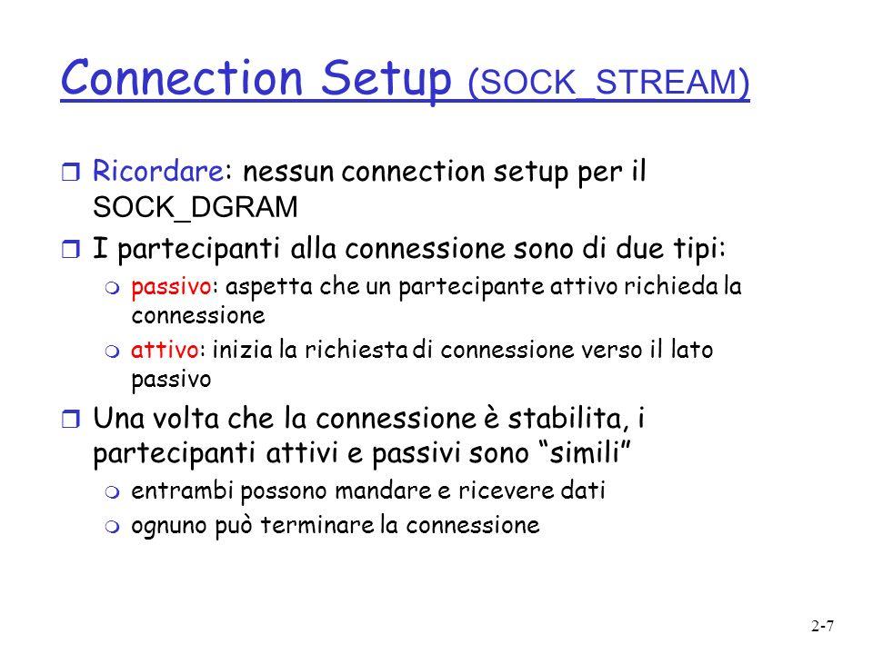 2-8 Connection setup (cont.) r Participante passivo (es.