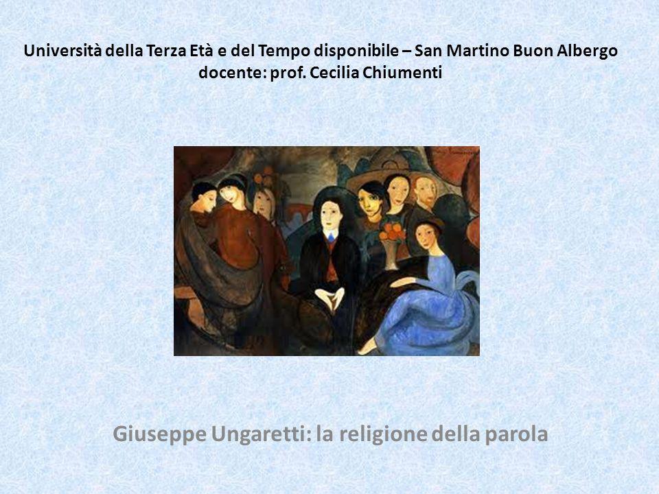 Giuseppe Ungaretti Nasce ad Alessandria dEgitto il 10 febbraio 1888 da genitori toscani (Lucca).