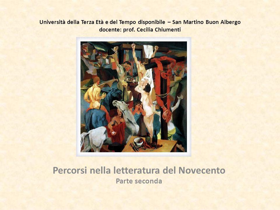 Percorsi nella letteratura del Novecento parte seconda 6 Febbraio 2013 – Il contesto storico: 1925-1956.