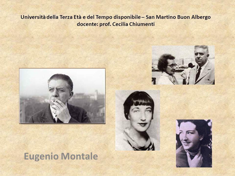 Eugenio Montale (1896-1981) è fra i poeti più grandi del Novecento, probabilmente il maggiore in Italia.