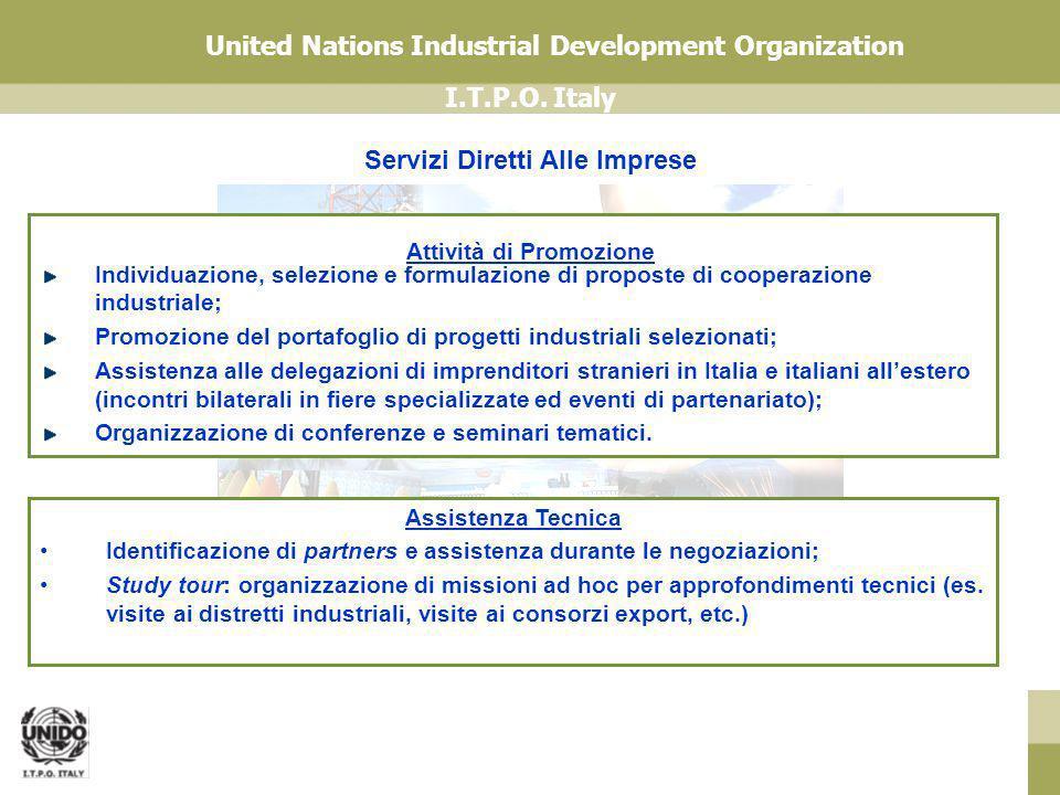 I.T.P.O. Italy United Nations Industrial Development Organization Individuazione, selezione e formulazione di proposte di cooperazione industriale; Pr