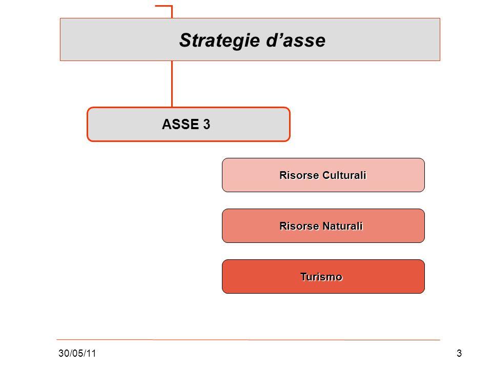 30/05/113 ASSE 3 Risorse Culturali Risorse Naturali Turismo Strategie dasse