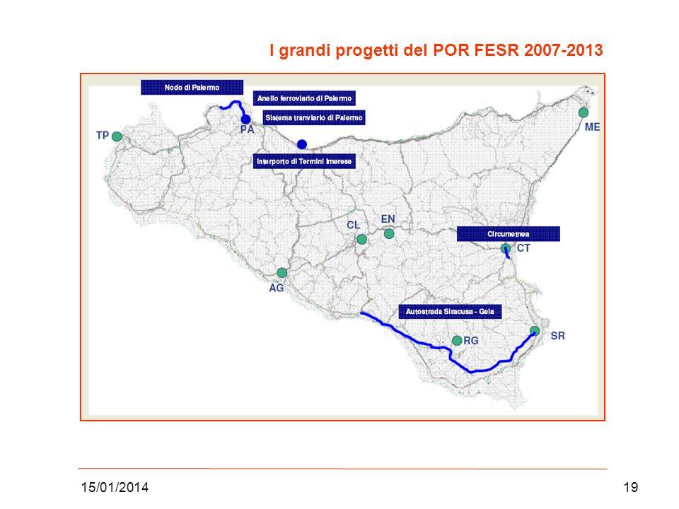 15/01/201419 I grandi progetti del POR FESR 2007-2013