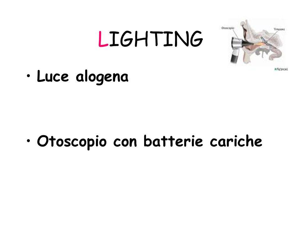 LIGHTING Luce alogena Otoscopio con batterie cariche
