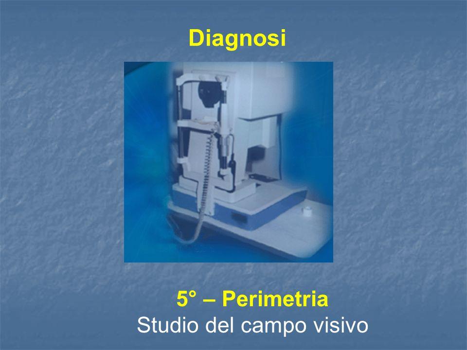Diagnosi 5° – Perimetria Studio del campo visivo